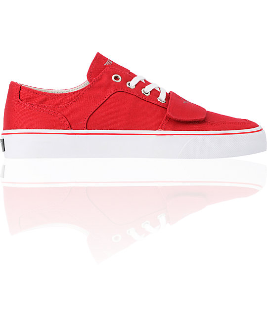 Creative Recreation Cesario Lo XVI Red Canvas Shoes