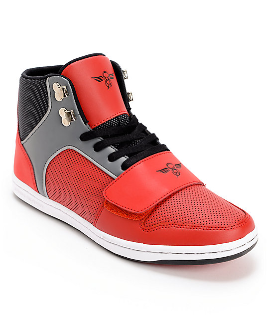 Creative Recreation Cesario Red, Black, & Smoke Shoes