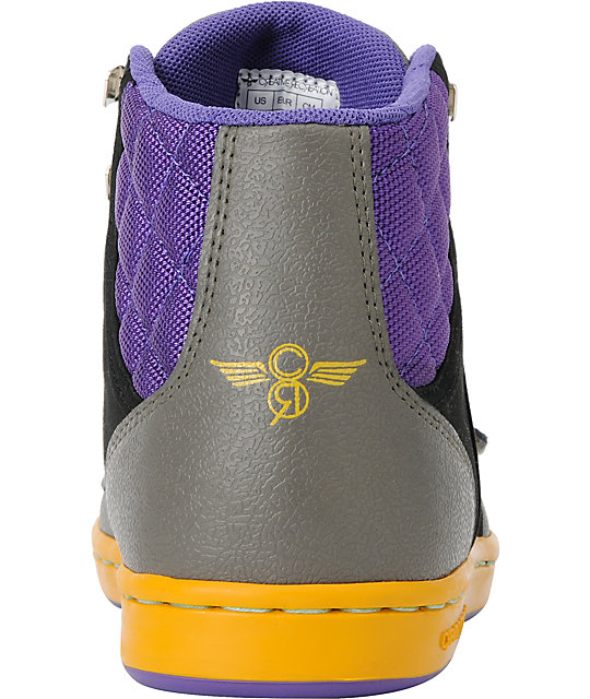 Creative Recreation Cesario XVI Black, Grey, & Purple Shoes