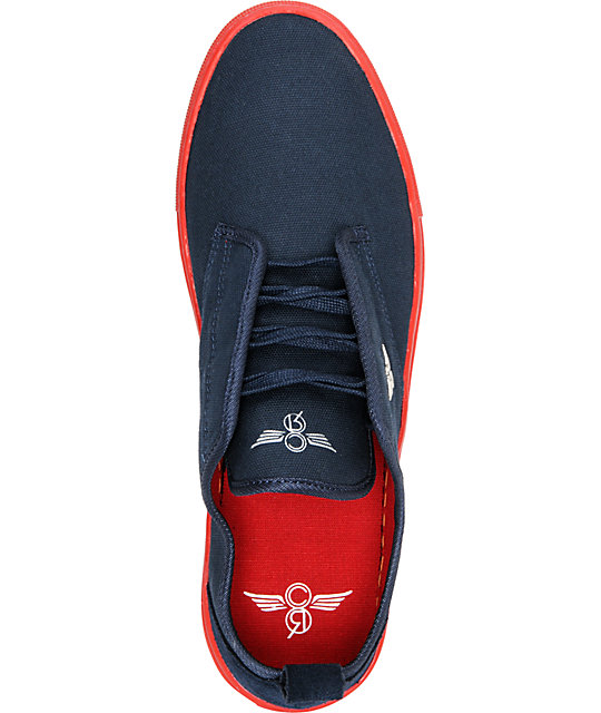Creative Recreation Lacava Navy & Red Canvas Shoes