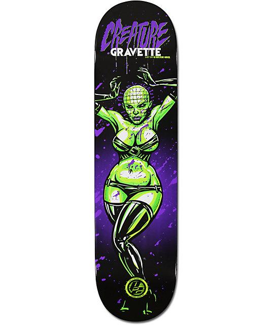 "Creature David Gravette Horror Babes 8.0""  P2 Skate Deck"