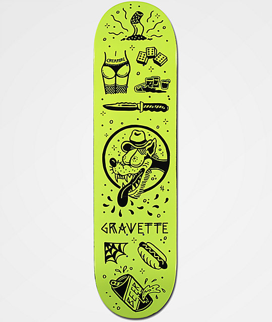 "Creature x Sketchy Tank Gravette Tanked 8.2"" Skateboard Deck"