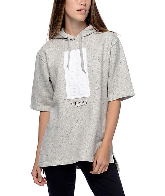 Crooks & Castles Banner Grey Short Sleeve Hoodie