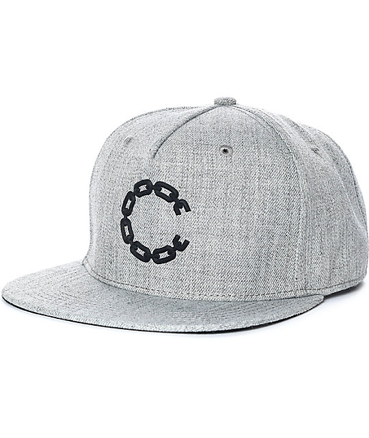 Crooks & Castles Chain C Grey Snapback Hat