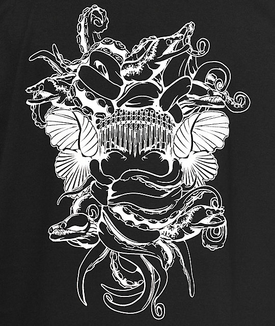 Crooks & Castles Chain Seas Medusa Black T-Shirt