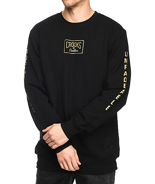 Crooks & Castles Fades Black Crewneck Sweatshirt