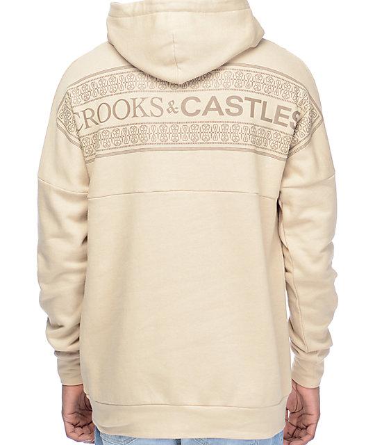 Crooks & Castles Nomad Dolman sudadera con capucha en color caqui
