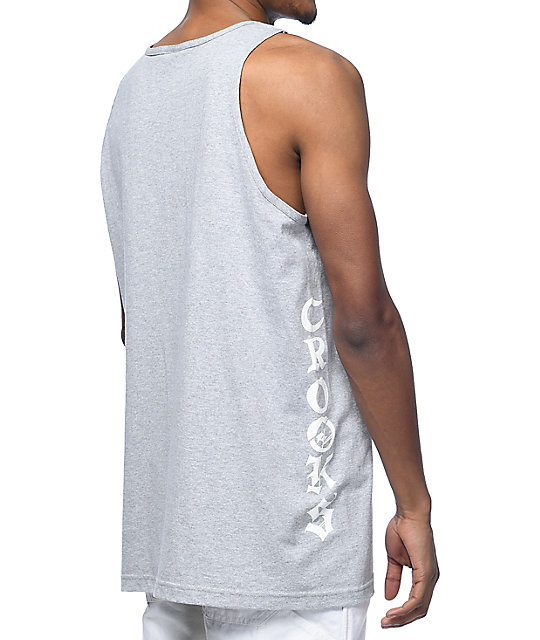 Crooks & Castles Rider Grey Tank Top