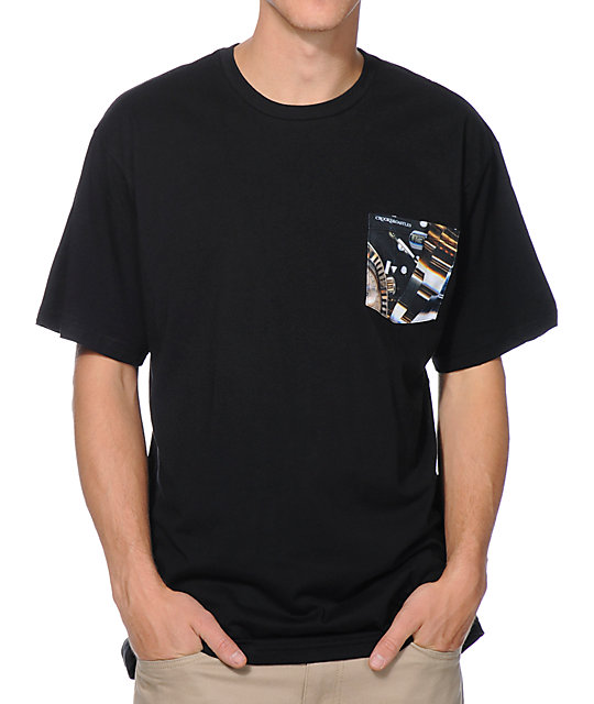 Crooks & Castles Timepiece Black Pocket T-Shirt