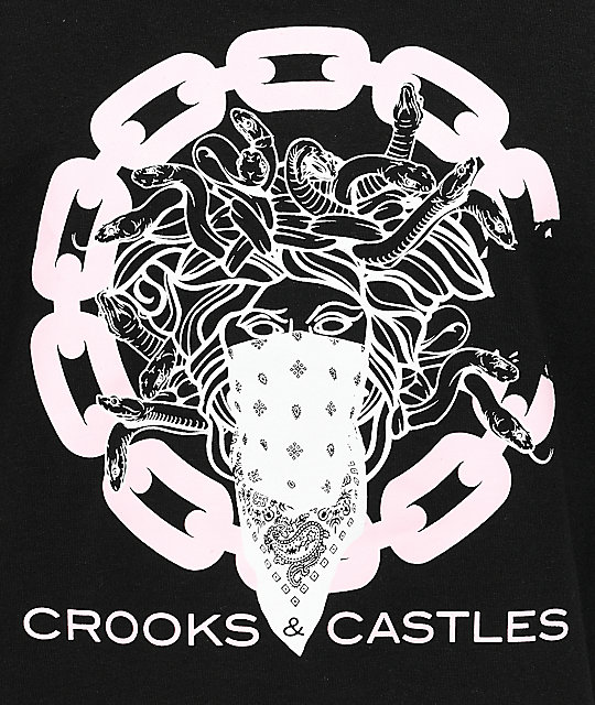 Crooks & Castles Chain C Bandusa Black T-Shirt