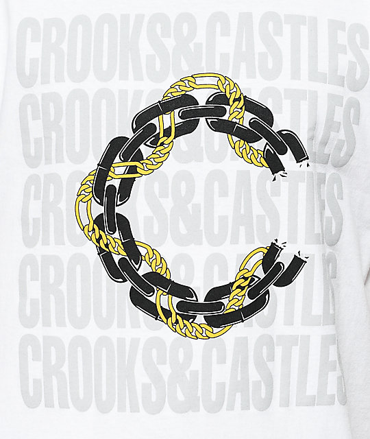 Crooks & Castles Chain Mob OPTM White T-Shirt