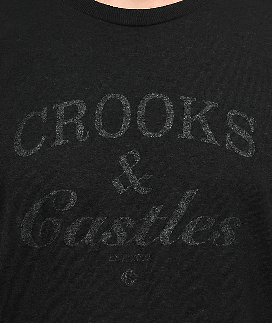 Crooks & Castles Timeless Black T-Shirt