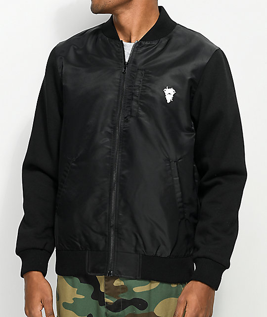 Crooks & Castles Timeless Medusa Black Flight Jacket