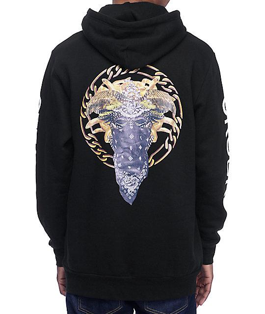 crooks amp castles cultivated lux medusa black hoodie