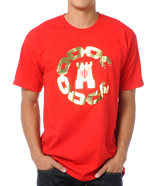 Crooks and Castles 10 Year Chain Red T-Shirt