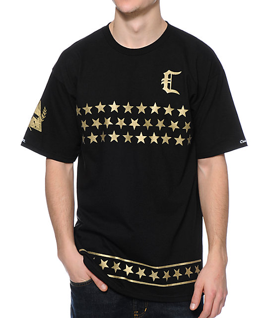 Crooks and Castles All Star Team Black & Gold T-Shirt at Zumiez : PDP