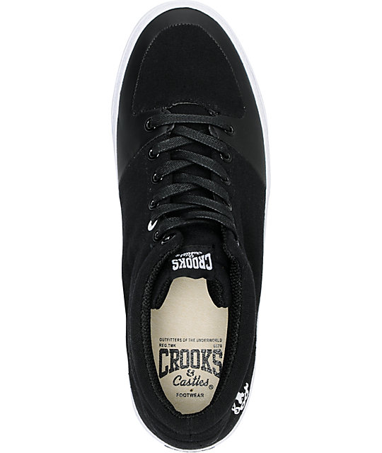 Crooks and Castles Backstab Black Canvas Shoes