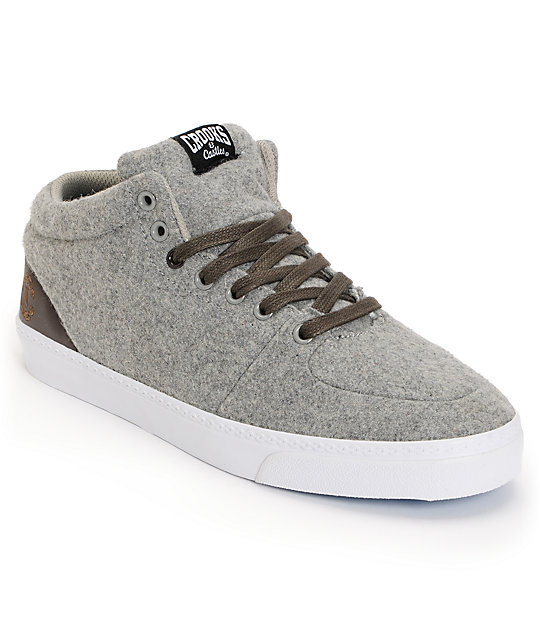 Crooks and Castles Backstab Grey Wool Shoes