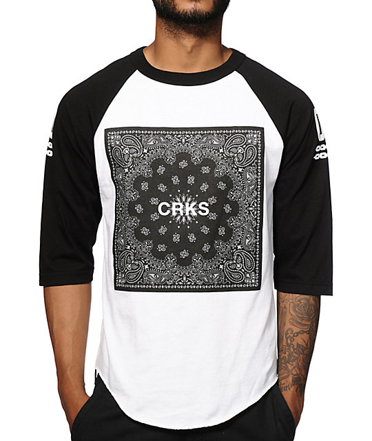 Crooks and Castles Bandit Block Baseball T-Shirt