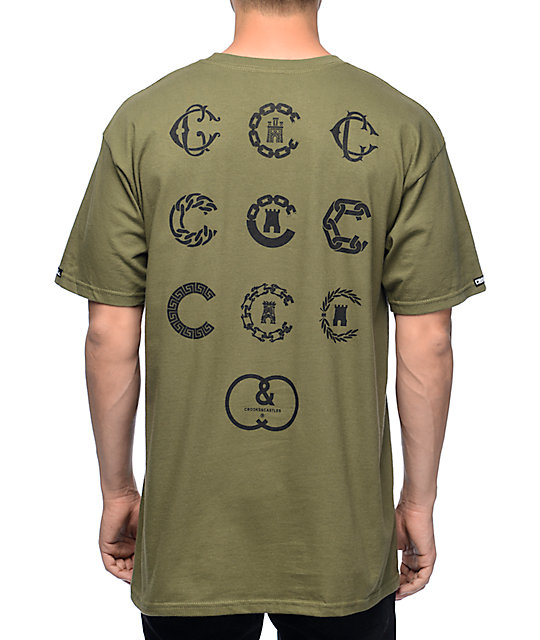 Crooks and Castles C Town Military T-Shirt