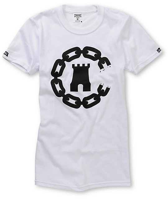 Crooks and Castles Chain Castle White T-Shirt