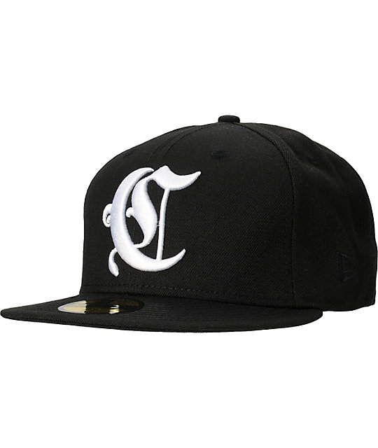 Crooks and Castles Collenglish Black New Era Fitted Hat
