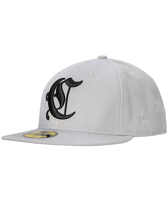 Crooks and Castles Collenglish Grey New Era Fitted Hat
