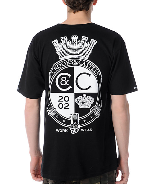 Crooks and Castles Crown Belt Black T-Shirt