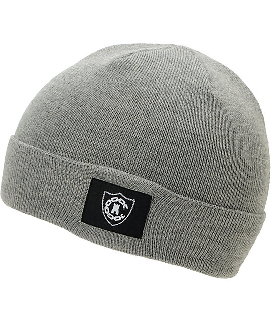 Crooks and Castles Emblem Grey Fold Beanie