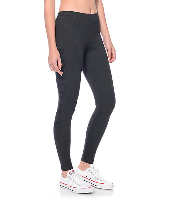 Crooks and Castles Femme Speckle Black Leggings