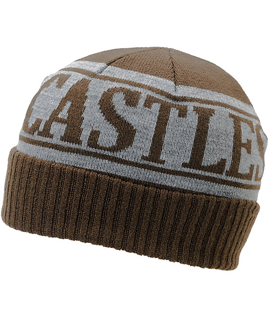 Crooks and Castles Full Blast Brown & Heather Grey Beanie
