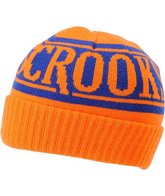 Crooks and Castles Full Blast Orange Cuff Beanie