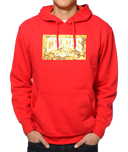 Crooks and Castles Getting Guap Red Pullover Hoodie