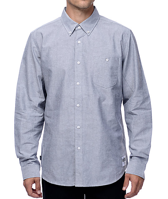 Crooks and Castles Good Fella Black Woven Button Up Shirt