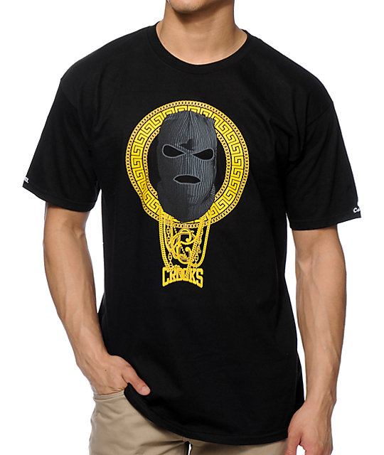 Crooks and castles goon squad black t shirt at zumiez pdp for Bucket squad gold shirt