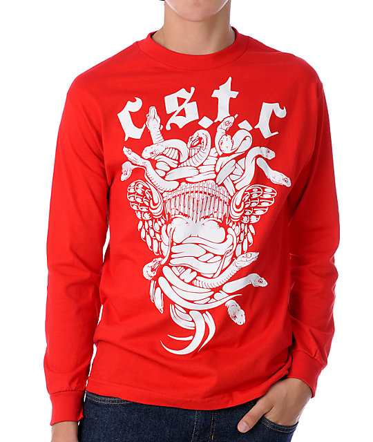 Crooks and Castles Goth Medusa Red T-Shirt