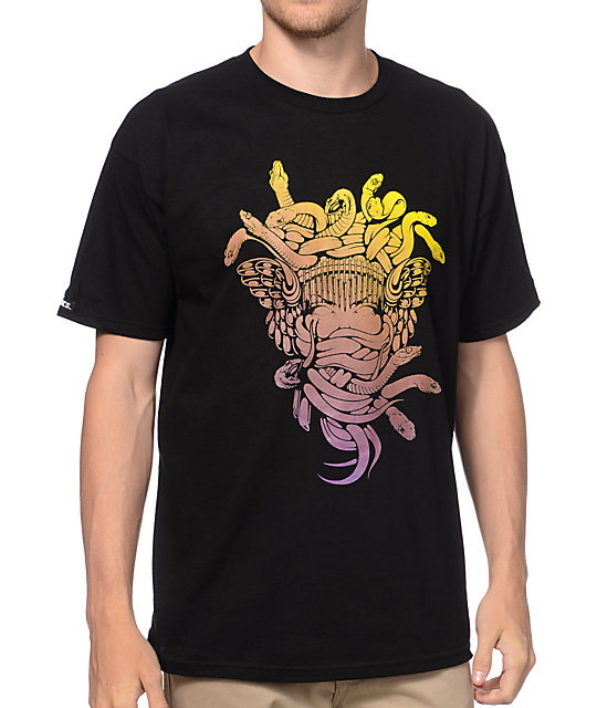 Crooks and Castles Gradient Medusa Black T-Shirt