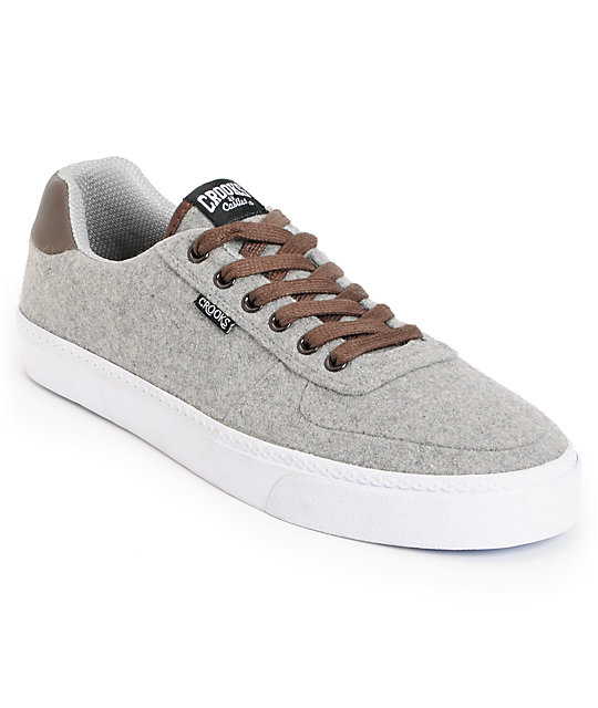 Crooks and Castles Isa Grey Wool Shoes