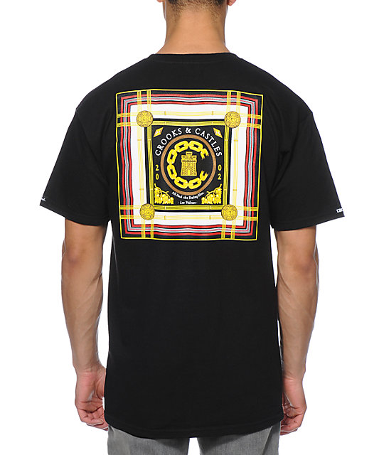 Crooks and Castles Lav Life Chain C Black T-Shirt