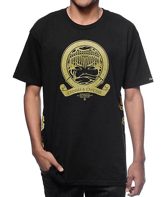 and Castles Medusa Banner Black & Gold T-Shirt