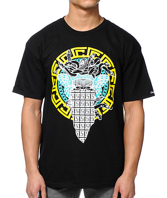 Crooks and Castles Medusa Repeat Black T-Shirt