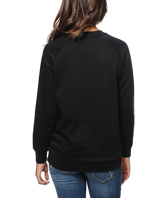 Crooks and Castles Pharaoh Black Crew Neck Sweatshirt