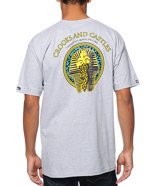 Crooks and Castles Pharaoh Leopard Grey T-Shirt
