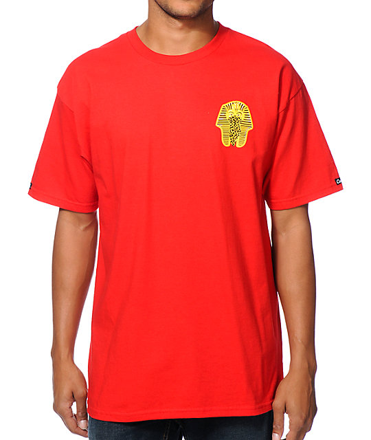 Crooks and Castles Pharaoh Leopard Red T-Shirt