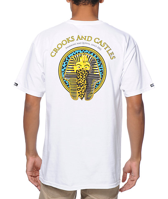 Crooks and Castles Pharaoh Leopard White T-Shirt