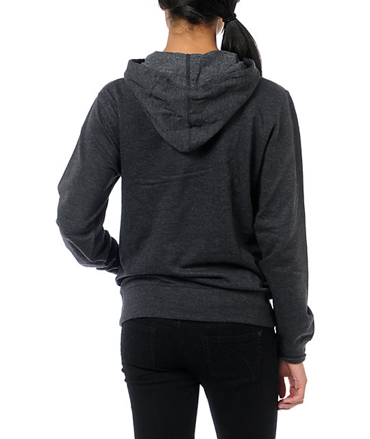 Crooks and Castles Pretty Girl Swag Charcoal Hoodie