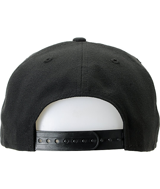 Crooks and Castles Privilege Black New Era Snapback Hat