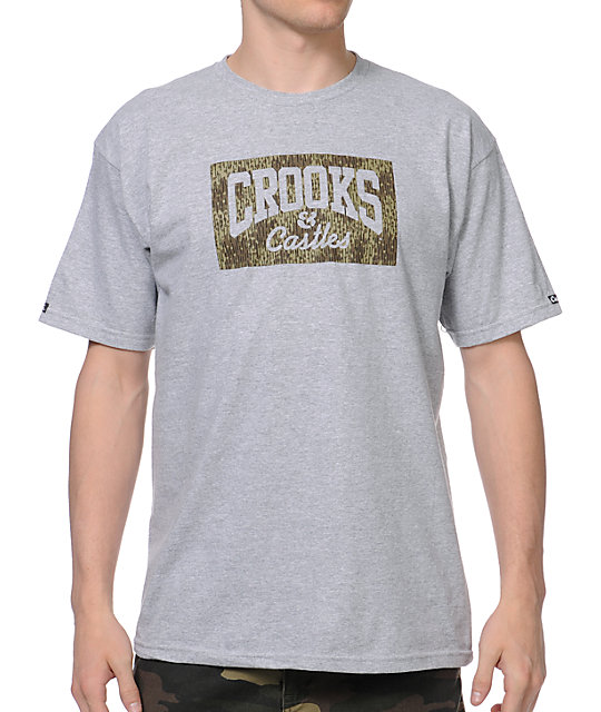 Crooks and Castles Rain Camo Grey T-Shirt