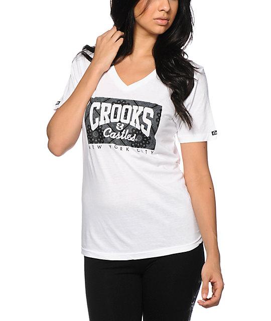 Crooks and Castles Squad Life Box NYC V-Neck T-Shirt
