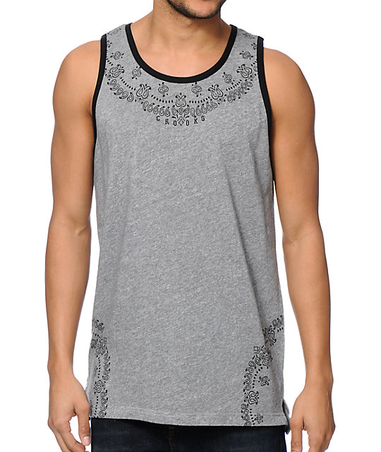 Crooks and Castles Squadlife Grey Tank Top
